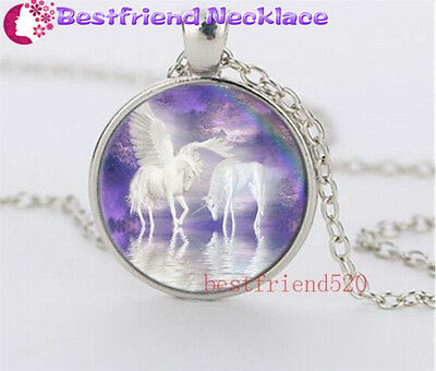 Cabochon Glass silver necklace for women men Jewelry