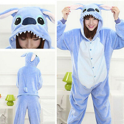 Unisex Adult Animal Sleepwear Kigurumi Pajamas Anime Onesies Cosplay Costume