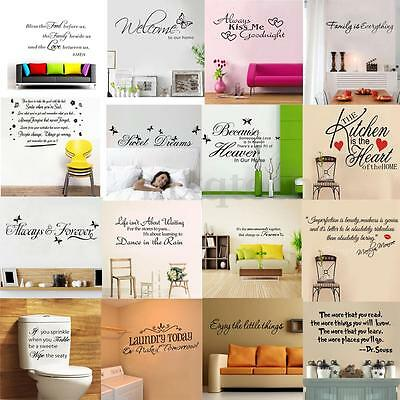 Quote Words Sticker Decor Decal Vinyl DIY Home Room Art Wall Stickers