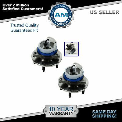 TRQ Front Wheel Hub & Bearing Pair RWD 5 Lug 3 Bolt Flange w/ ABS for CTS STS