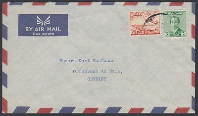 1955c Irak Iraq Cover to Germany, King Faisal Flugzeuge Aircraft [ca834]