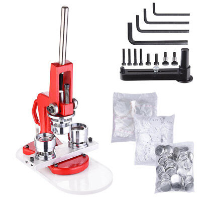 "1.25"" 32mm Button Maker Badge Punch Press Machine Free 1000 Parts Circle Cutter"