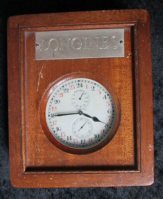 LONGINES rare 24h Dial  MARINE DECK WATCH 8 DAYS RESERVE INDICATION Cal. 24.41
