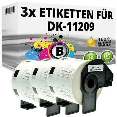 3x Etiketten für Brother P-Touch QL-1050N 1060N 500A 550 570 650TD 700 710W 720