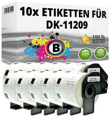 10x Etiketten für Brother P-Touch QL-1050N 1060N 500A 550 570 650TD 700 710W 720