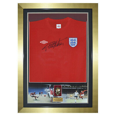 Autographed Sir Geoff Hurst England Shirt - World Cup Final 1966 Medal & Montage