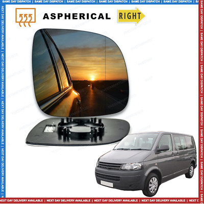 Right side Wide Angle Wing mirror glass for VW Transporter T5 2010-16 Heated