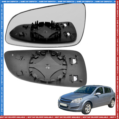 Left Passenger side Convex Wing mirror glass for Vauxhall Astra H 04-08 Heated