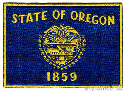 OREGON STATE FLAG PATCH embroidered iron-on EMBLEM new applique biker DETAILED