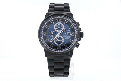Men's Citizen CA0505-57L Eco-Drive Black Titanium NIGHTHAWK Chronograph Watch