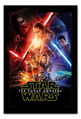 Official Framed Star Wars Episode 7 The Force Awakens Poster VII - New