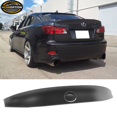For 06-13 Lexus IS250 IS350 ISF WD W Style ABS Rear Trunk Spoiler Wing Lip Lid
