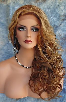 Hand Tied Lace Front  Wig Highlighted Red Gf8642 *gorgeous* Us Sell Fast 211