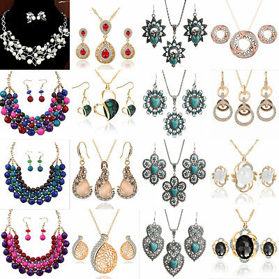 New Fashion Women's Individuality Pendant Earrings Necklace Charm Jewelry Set