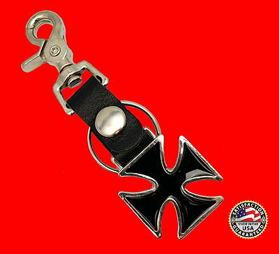 Maltese Cross Key Chain Fob With Bottle Opener ** Made In Usa ** Free Usa Ship