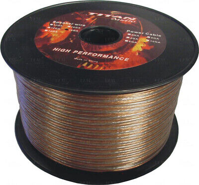 25m 2 Core 18AWG 1.02mm Oxygen Free Speaker Wire Cable