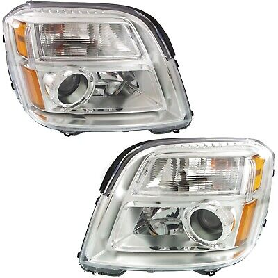 2010-2015 Replacement Projector Headlight Pair For GMC Terrain W/ Bulb + Socket