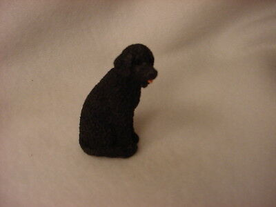 PORTUGESE WATER DOG  puppy TiNY FIGURINE Resin  MINIATURE Mini Pet Statue NEW