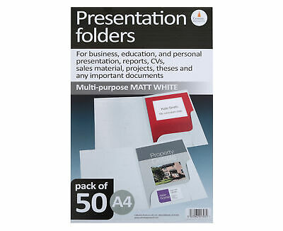 Corporate Presentation Folders A4 Matt Pack of 50