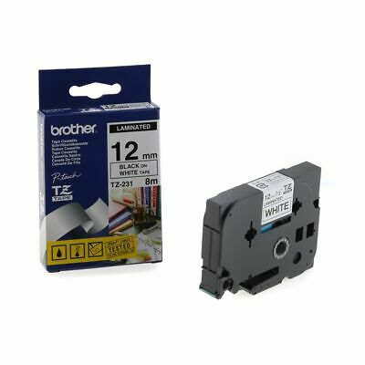 Brother TZ231 Labelling Tape 12mm Black White