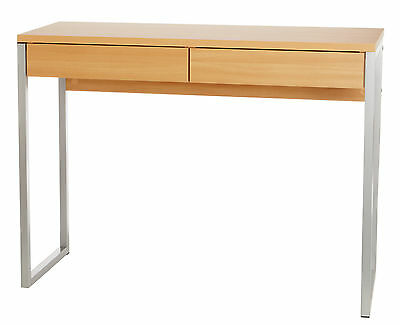 Alderley 2 Drawer Beech Effect Office Desk