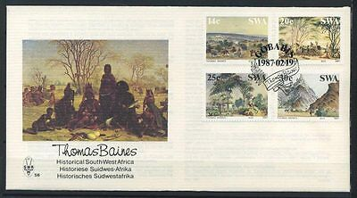 15-11-00461 - South West Africa 1987 Mi.  600-603 FDC 100% History of the Sudwes