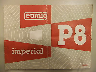 Instructions cine projector EUMIG P8 automatic novo COPY CD//email