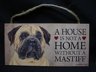 BULL MASTIFF A House Is Not A Home DOG wood SIGN wall hanging PLAQUE Bullmastiff