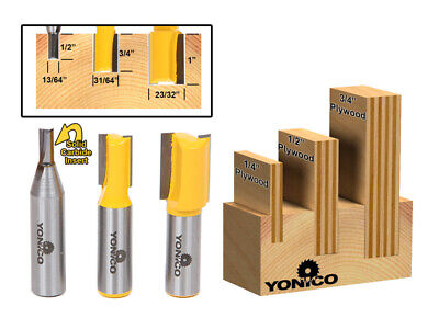 "1 NEW  Yonico 23//32/"" D Straight Tipped Router Bit Dado Undersize Plywood y4"
