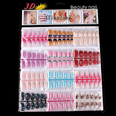144pcs Mixed Set False Nail Tips Artificial Fake Nails Art Acrylic Manicure Gel