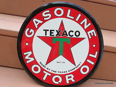 Large Texaco Motor Oil,gas Sign,gasoline Old Vintage 1960's Antique Style Signs