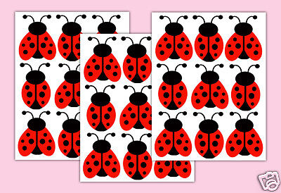 Red Ladybug Wall Decals Baby Girl Nursery Lady Bird Bug Art Stickers Kids Room