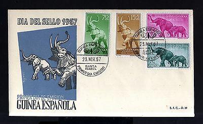 6843-SPANISH GUINEA-EXCOLONIAS ESPAÑOLAS-FDC.COVER St.ISABEL.1957.SPAIN colonies