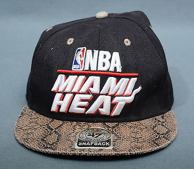 Nba Miami Heat Forty Seven Brand Cappello Hat Tg One Size