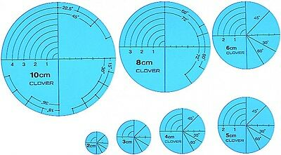 Clover Circular Templates For Drawing Quilting Lines - per pack of 7 (CL57-894)