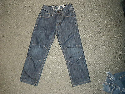 "Premium Relaxed Jeans Waist 22"" Leg 18"" Faded Dark Blue Boys Age 6Yrs Jeans"