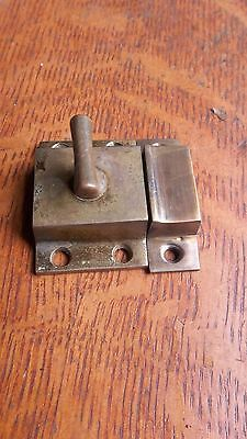 Antique Craftsman Cast Brass Cabinet Latch c1900