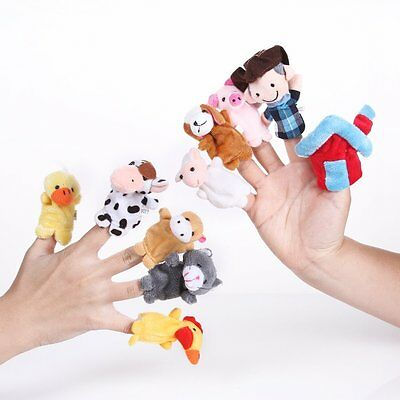 "Top 10Pcs Lot ""Old Macdonald had a farm"" Finger Puppet Doll Baby Educational Toy"
