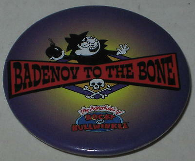 "Rocky & Bullwinkle Boris ""Badenov to the Bone"" Pin 1.75"" - Licensed 2000"