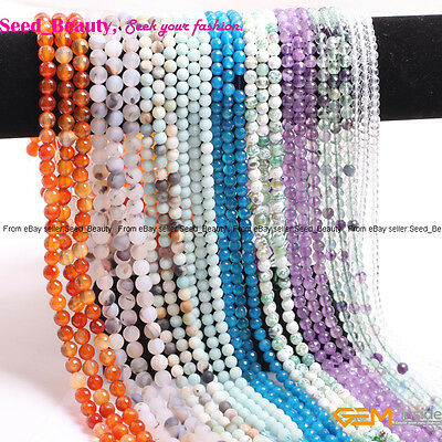 """Natural  Gemstone Various Tiny Spacer Beads for Jewelry Making 15"""""""