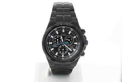 Men's Citizen BL5435-58E Black Stainless Chronograph Scratched Crystal Watch