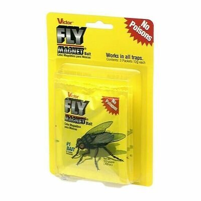 Victor M383 Pack of 3 Fly Magnet Bait Works in all Traps