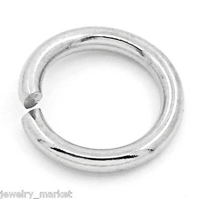 """JM 100PCs Stainless Steel Jump Rings Findings Silver Tone 8mm(3/8"""")Dia."""