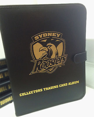 NRL CLUB Collectors Trading Card 3-Ring Album ( Inc. 10 pages)-SYDNEY ROOSTERS