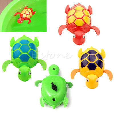 Wind up Swimming Floating Turtle Animal Toy For Kids Baby Child Pool Bath Time