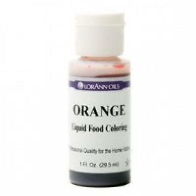 LorAnn Extra Strength Liquid Food Color ORANGE 1 oz.