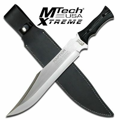 """NEW! Mtech Extreme 18"""" Fixed Blade Bowie RAPTOR Knife w/ Leather Sheath"""
