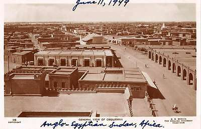 Anglo-Egyptian Sudan Africa air view Omdurman area real photo pc Y11979