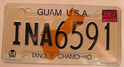 Guam U.S.A. 2005 TANO Y CHAMORRO License Plate NATURAL HIGH QUALITY # INA6591