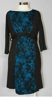 New Japanese Weekend Maternity and Nursing Colorblock Print Shift Dress S 6 8